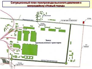Ситуационный план газопровода - схема