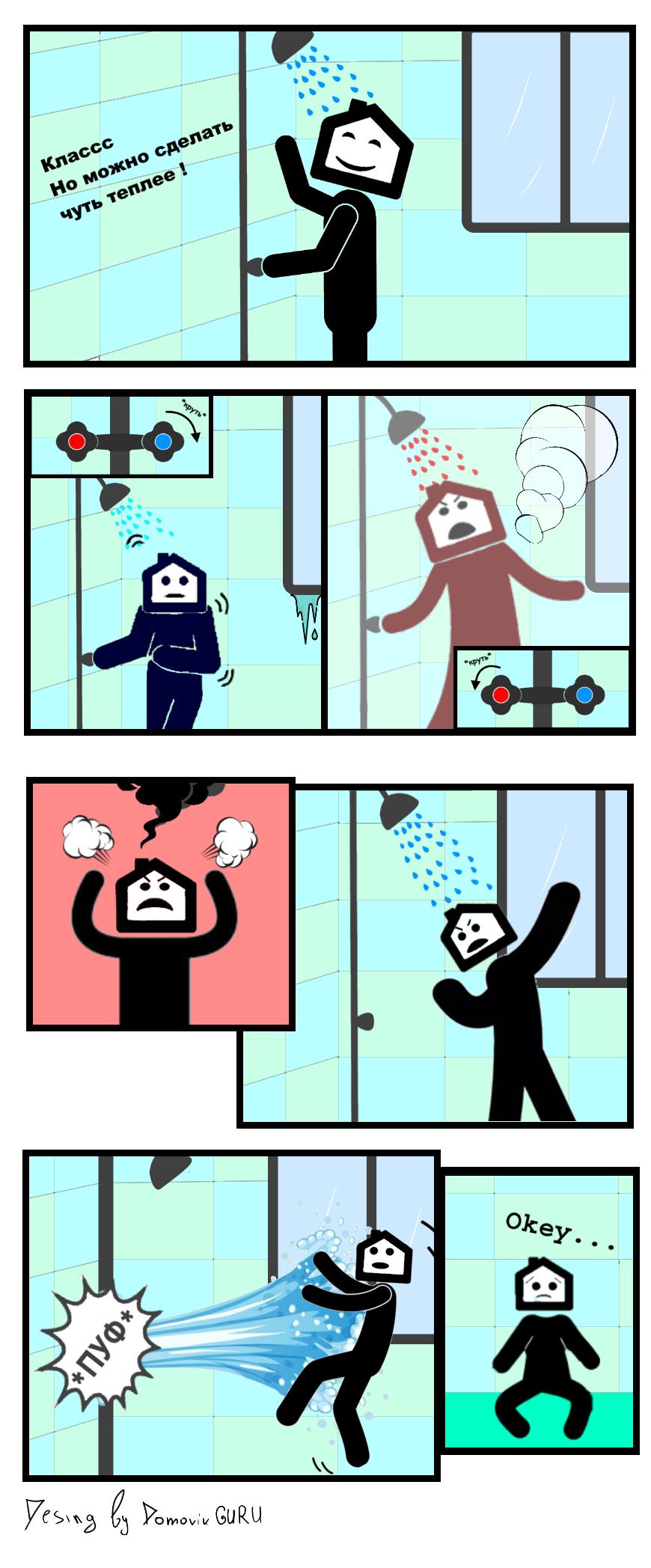 Водные процедуры - комиксы о недвижимости