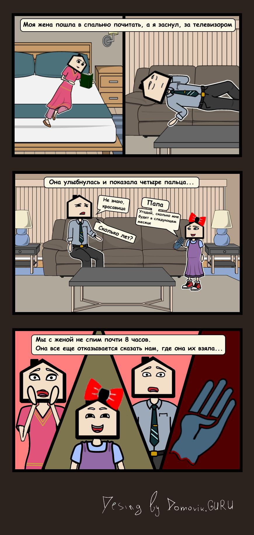 Четыре комикс